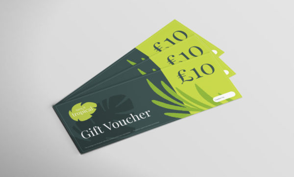 Turn it tropical £10 voucher